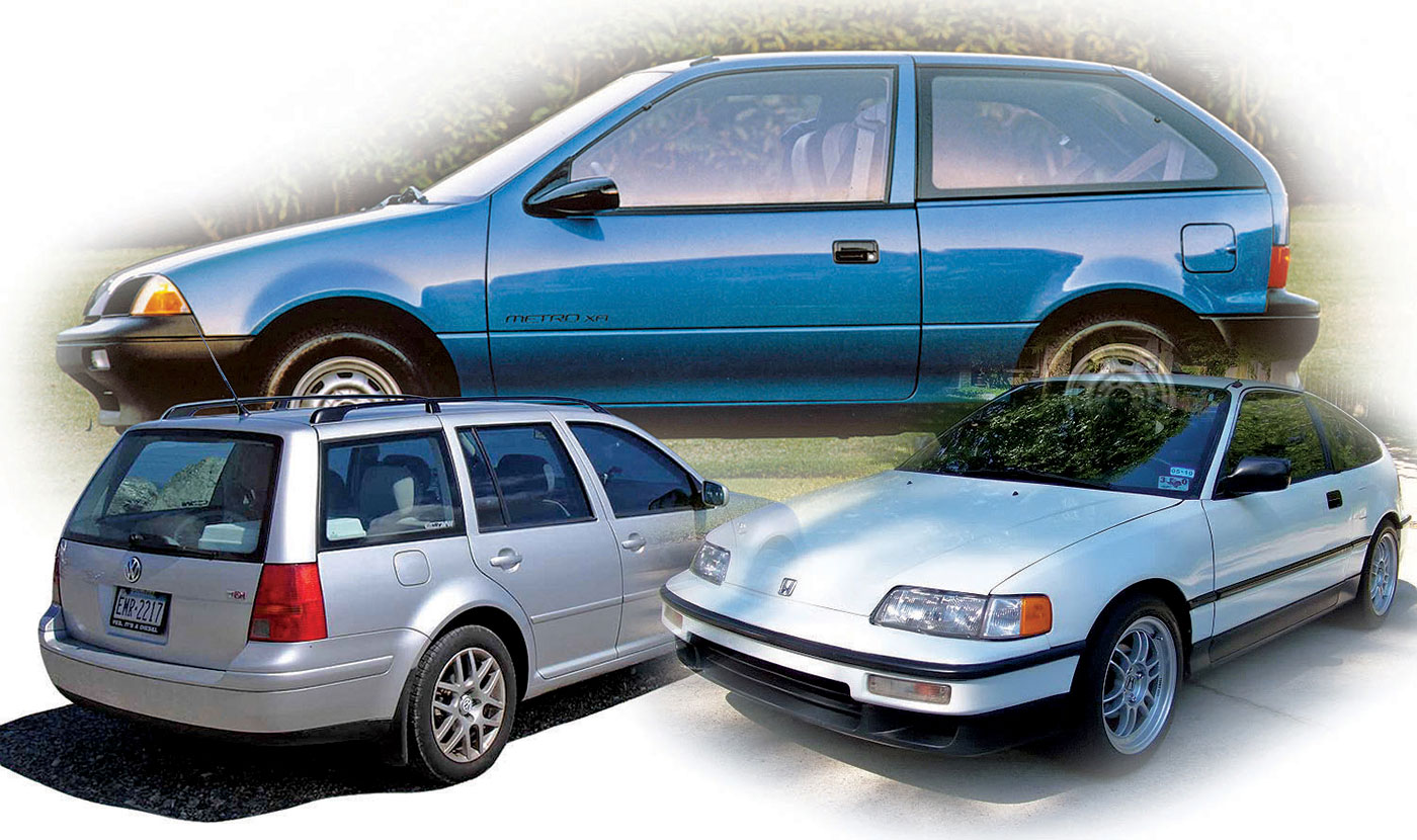 How Chevy Coaxed Cruze Diesel To 52 Mpg Automatic Transmission Diagram Automotive News Shown Below Clockwise The Geo Metro Xfi Honda Civic Crf Hf And Vw Jetta Wagon