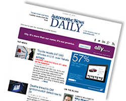 Automotive News Daily Newsletter